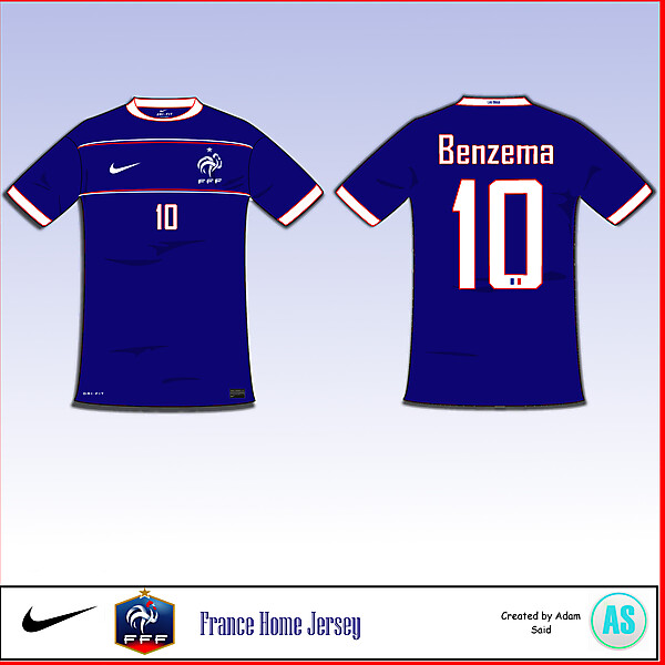 France Home Jersey (Please Read Description)
