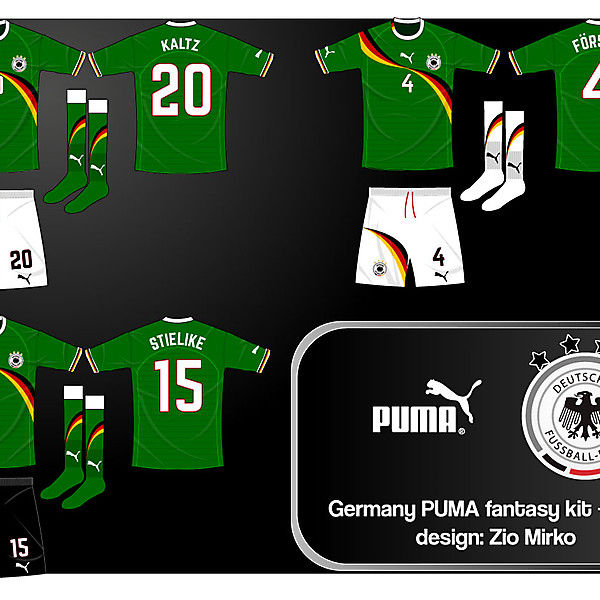 Germany PUMA fantasy kit - away dark green