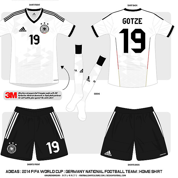 2014 FIFA WORLD CUP : Germany National Team : Adidas Home Shirt