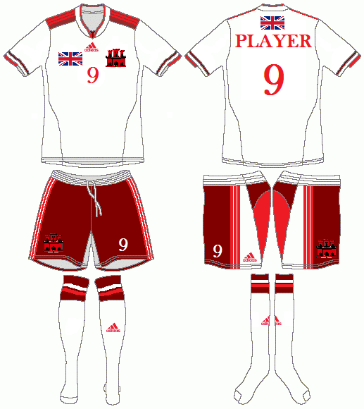 Gibraltar Adidas Home Kit