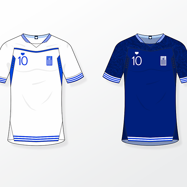 Greece NT [home & away shirts]