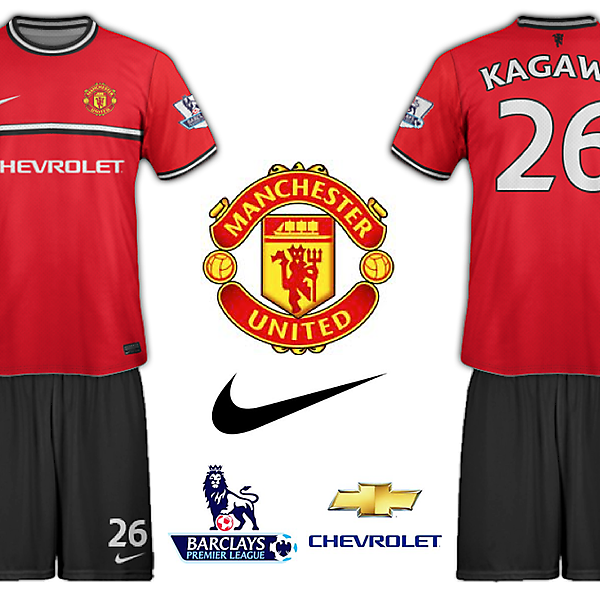 Man United Chevrolet Home Kit