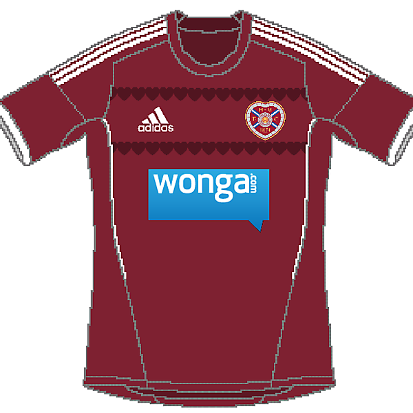 Hearts FC Adidas Home