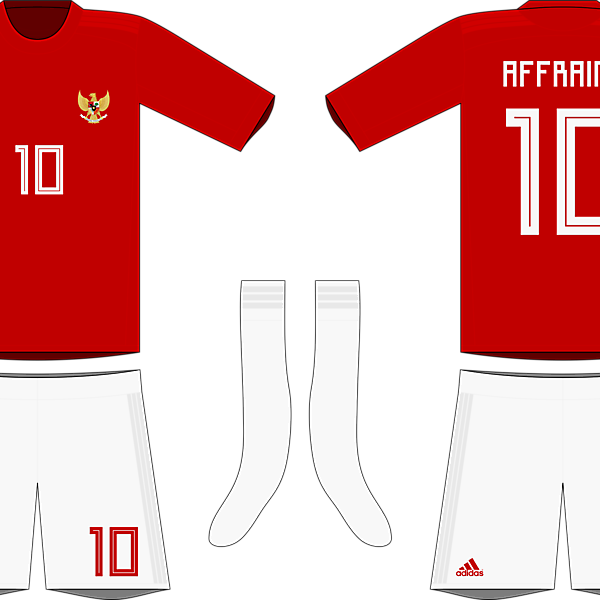Indonesia x Adidas 2019-20 home kit