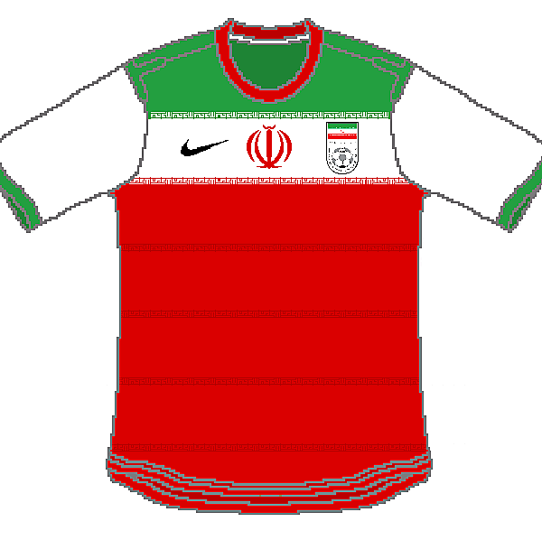 Iran Nike Home, Away and Third