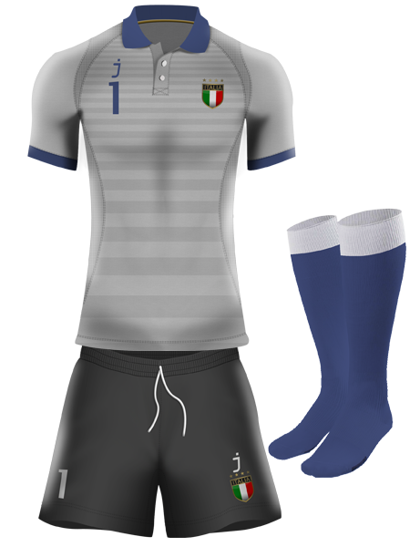 Italy goalkeeper kit by J-sports