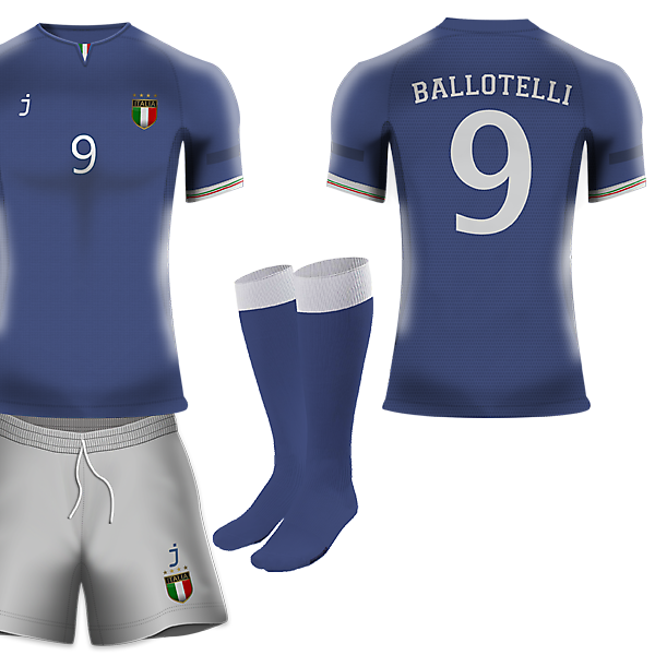 Italy home kit by J-sports