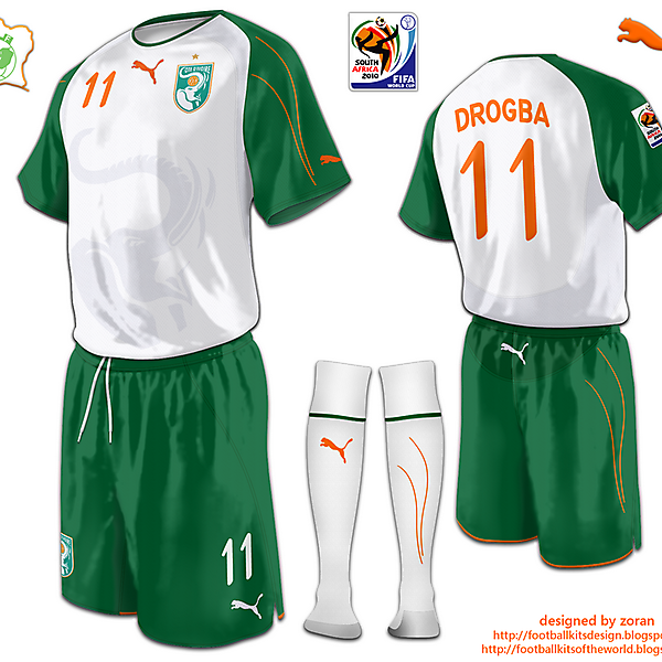 Ivory Coast World Cup 2010 fantasy away