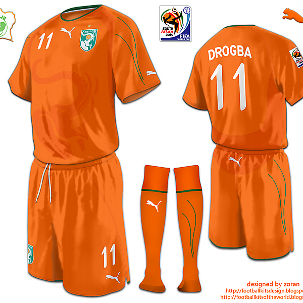 Ivory Coast World Cup 2010 fantasy home