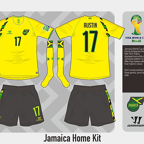 Jamaica Home Kit - WC Competition