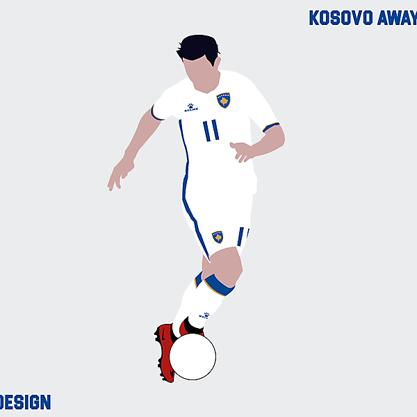 Kosovo away kit x Kelme