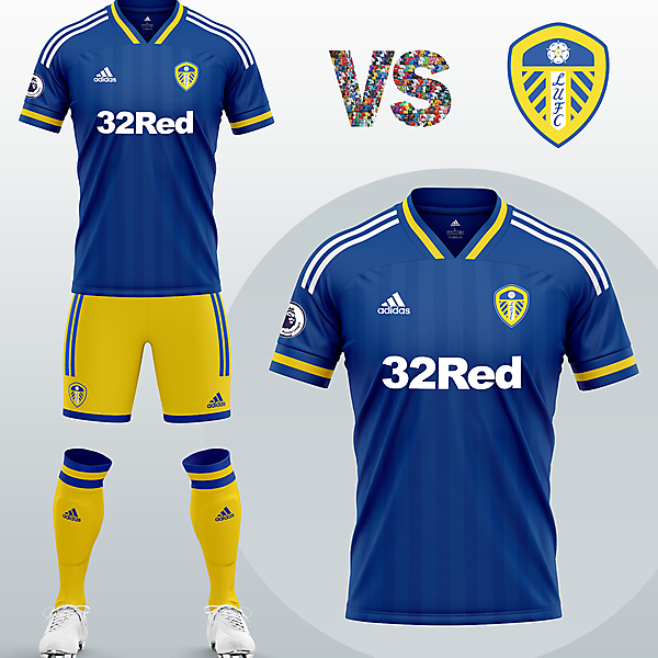 Leeds United Away kit with Adidas (Concept 2020/21)