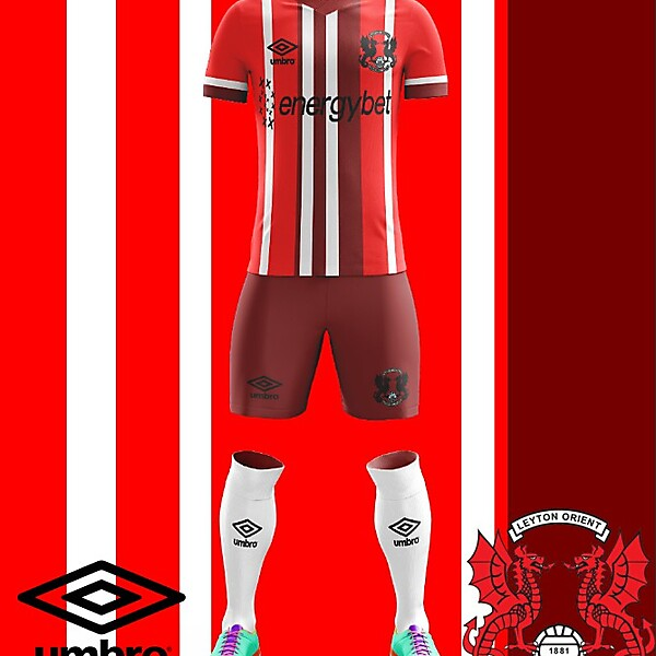 Leyton Orient F.C. Umbro 2018 Home KIt