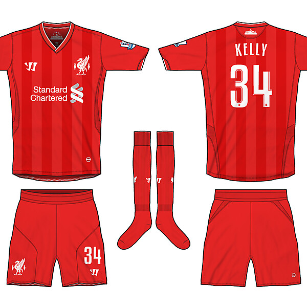 Liverpool Warrior Home 12-13