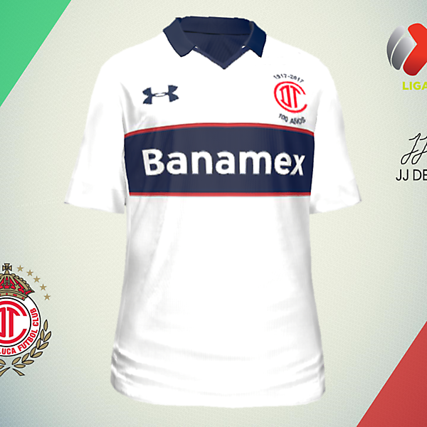 LIGA MX CONCEPTS-Toluca Away (100th Anniversary)