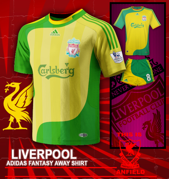 Liverpool adidas fantasy away shirt