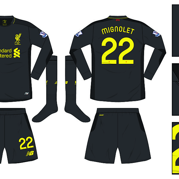 Liverpool Away 'keeper kit 2016/17