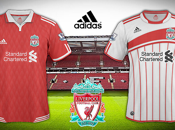 Liverpool FC 2010/11 Home and Away Shirts