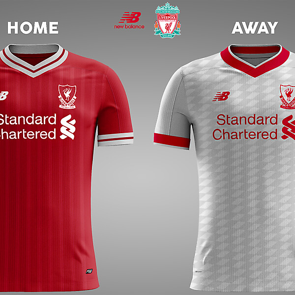 Liverpool Home & Away 17/18 Concept Kits