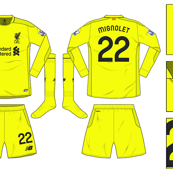 Liverpool Home 'keeper kit 2016/17
