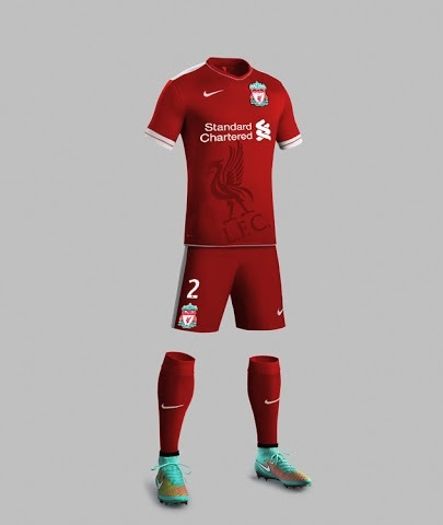 Liverpool home kit for Nike