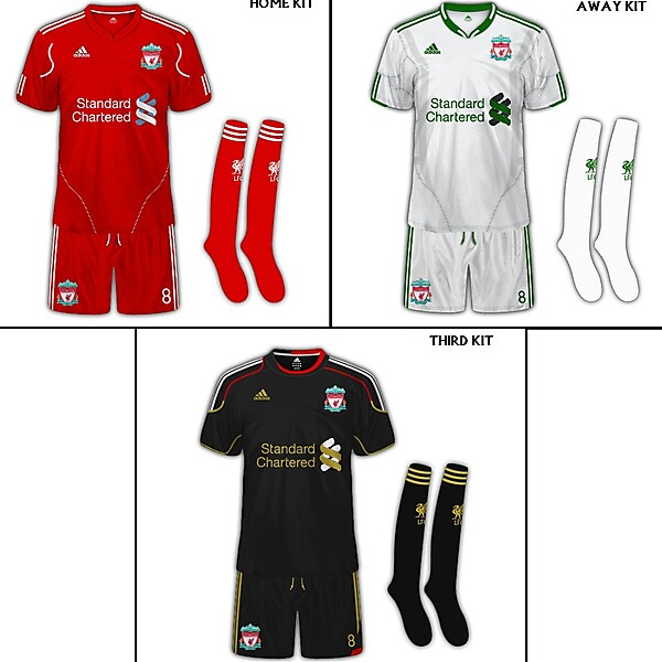 Liverpool FC Set Of Fanatasy Kits