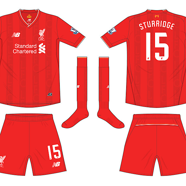 Liverpool New Balance Home Kit 2015-16