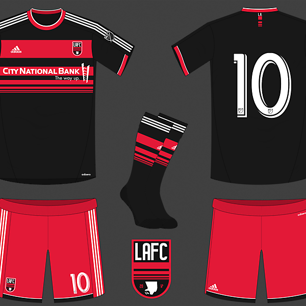 Los Angeles FC Fantasy Crest and Home Kit