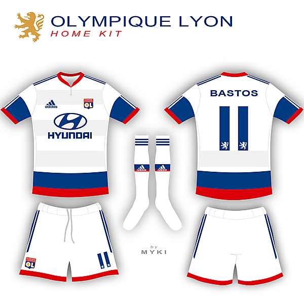 Olympique Lyon home kit