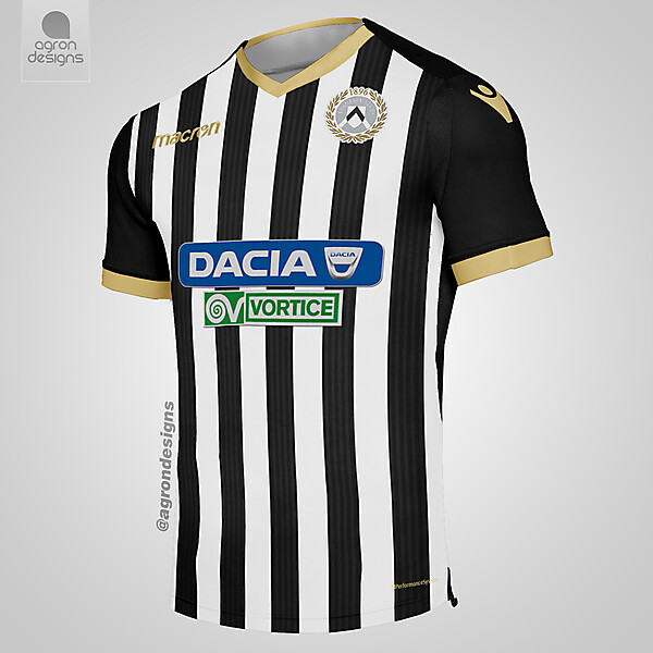 Macron Udinese Home Kit Concept