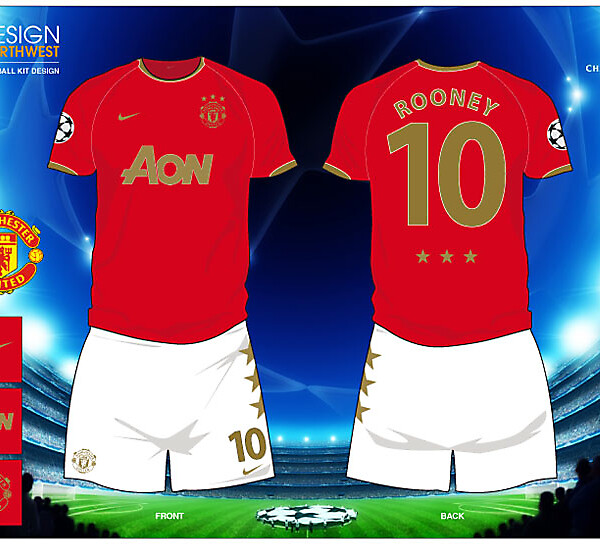 Fantasy Champions League Manchester United Football Kit