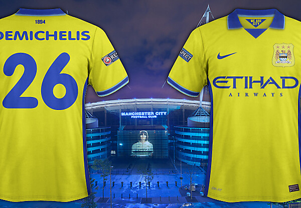 Man City 3rd/European away kit