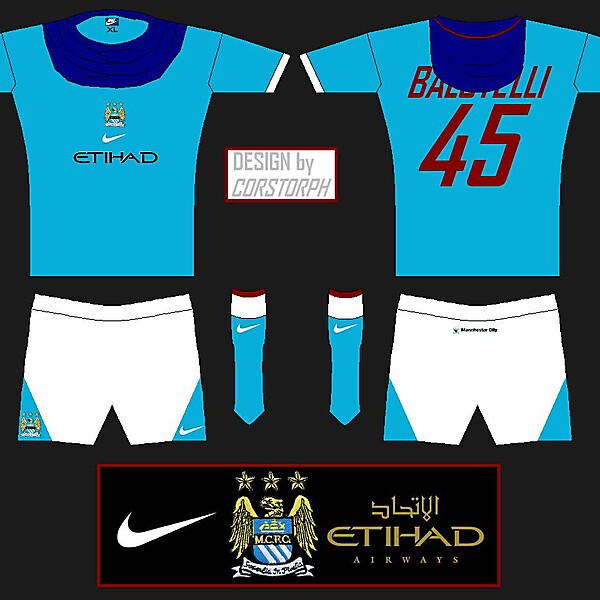 Nike Man City Home Shirt