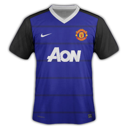 Man United Away w/ horizontal stripes