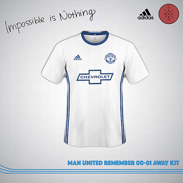 Man United Remember 00-01 Away Shirt Concept