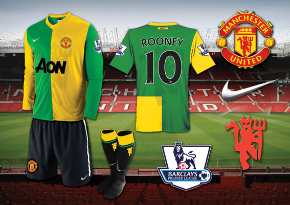 Man Utd Green and Gold Kit
