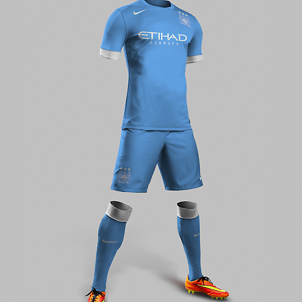 MANCHESTER CITY 15/16 HOME KIT DESIGN