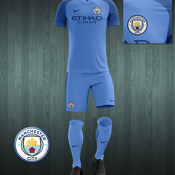 Manchester City 2016-17 home kit
