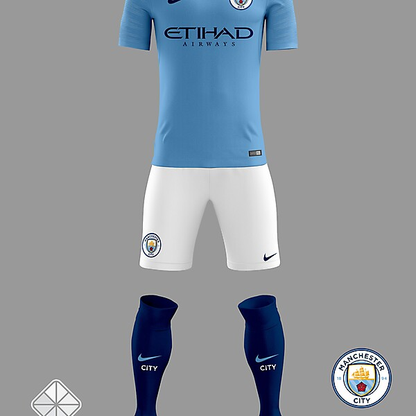 Manchester City 2018/2019 Home Jersey