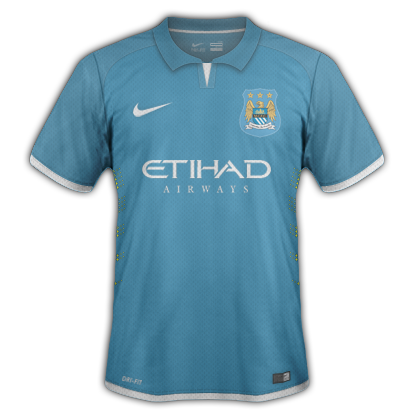 Manchester City Home kit for 2015/16 with Nike