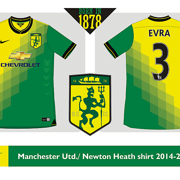 Manchester United / Newton Heath shirt 2014 2015