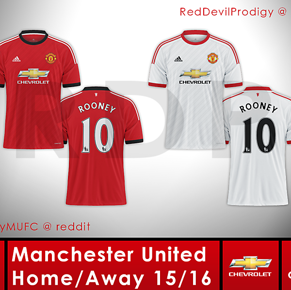 Manchester United Adidas Home/Away 15-16 Concept