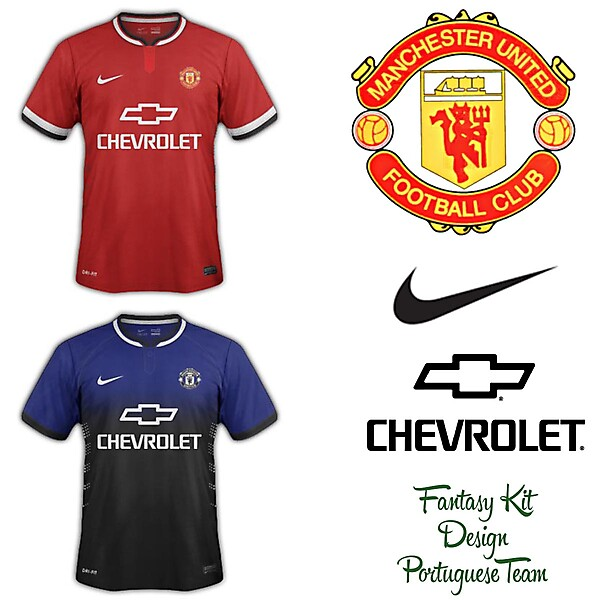 Manchester United Fantasy Home and Away 2014/2015 with new sponsor Chevrolet