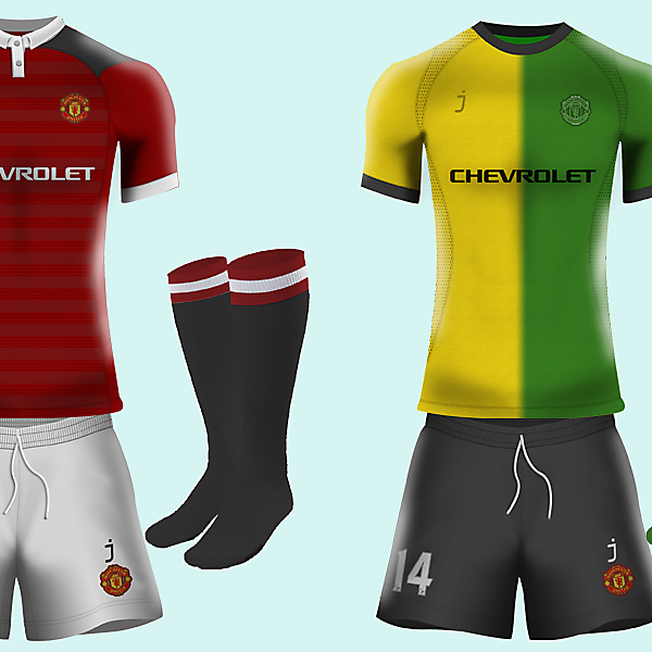 Manchester United kits by J-sports