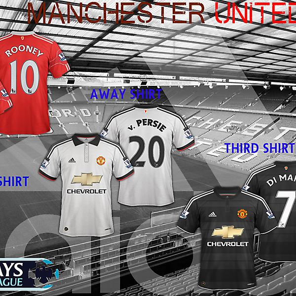 Manchester United new Adidas shirt designs