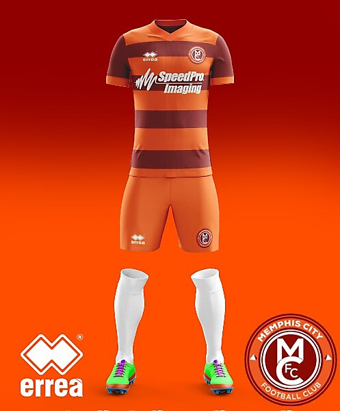 Memphis City FC Errea Home Kit 2018