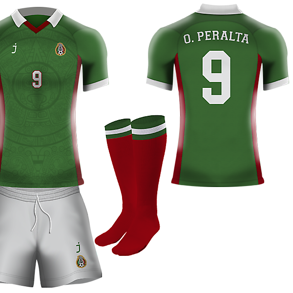 Mexico home kit by J-sports