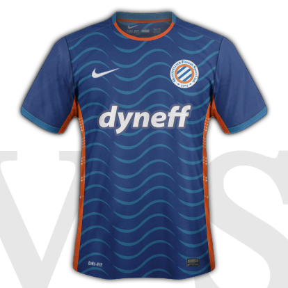 Montpellier HSC Home kit 2015/16 with Nike