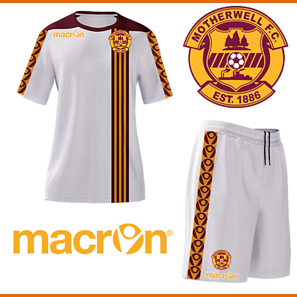 Motherwell - Macron Away Kit