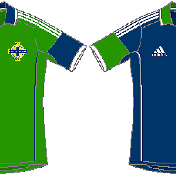 Northern Ireland Adidas Home and Away